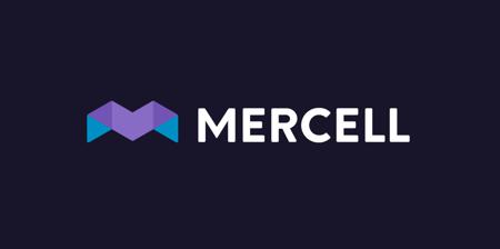 Mercell logo with dark background